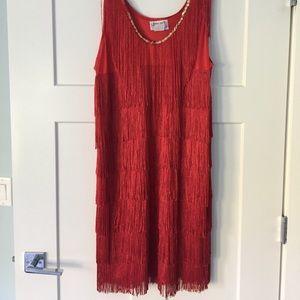 Red Flapper Dress Halloween Costume 1X